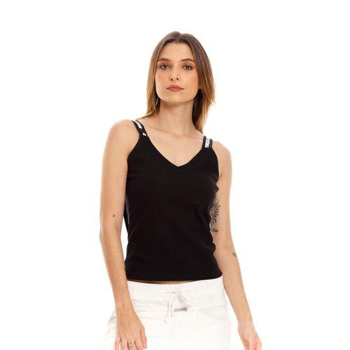 Camiseta-Para-Mujer-Con-Elastico-Marcado-Marithe-Francois-Girbaud